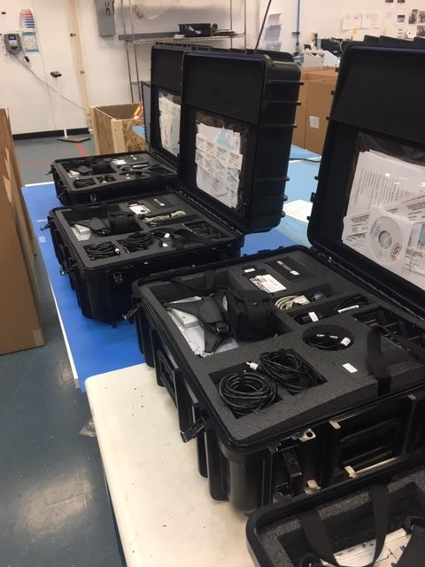 3 Savi Portable Deployment Kits III, part of an order of 221 kits for the Army National Guard, at First Source Electronics' Maryland location